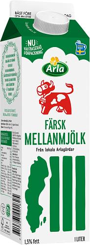 Arla Ko® Färsk Mellanmjölk 1,5% - GT