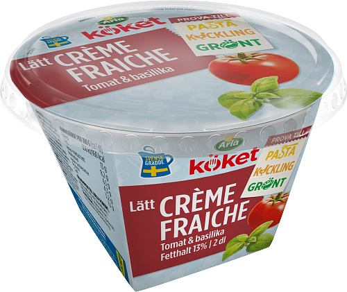 Arla Köket® lätt crème fraiche tomat & basilika 13%