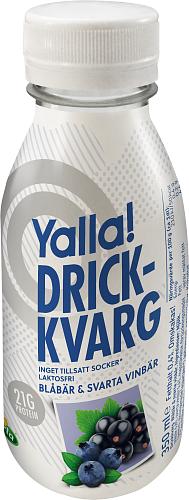 Yalla® drickkvarg blåbär & svartavinbär