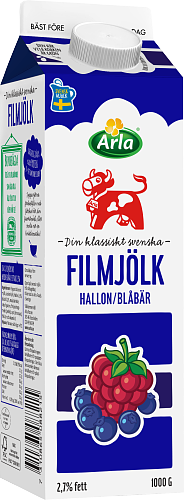 Arla Ko® Filmjölk Blåbär/Hallon 2,7%