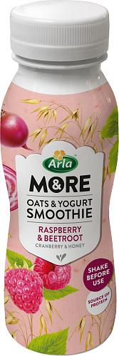 Arla & More® oat & yoghurtsmoothie hallon & rödb