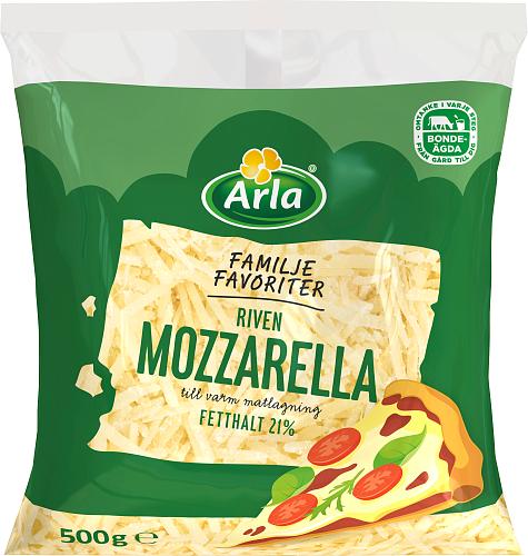 Arla® Familjefavoriter Mozzarella 21% Riven