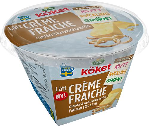 Arla Köket® lätt crème fraiche cheddar&karamelliserad lök 13%