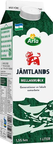 Arla Ko® Jämtlandsmellanmjölk 1,5% - GT