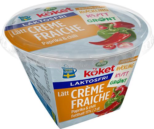 Arla Köket® laktosfri lätt crème fraiche paprika & chili 13%