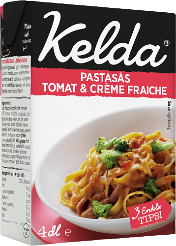 Kelda® Pastasås Tomat & crème fraiche 4%