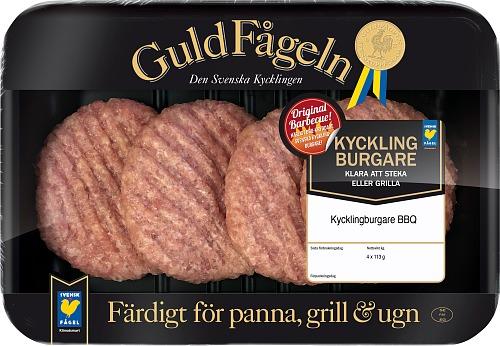 Kycklingburgare BBQ 4-pack